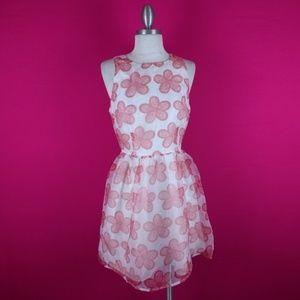 @ BB Dakota sz 6 Pink White Aline Floral Dress